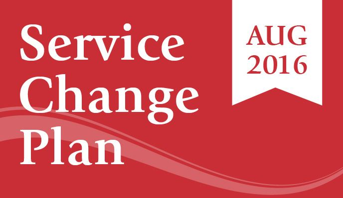 Service Change Plan for August