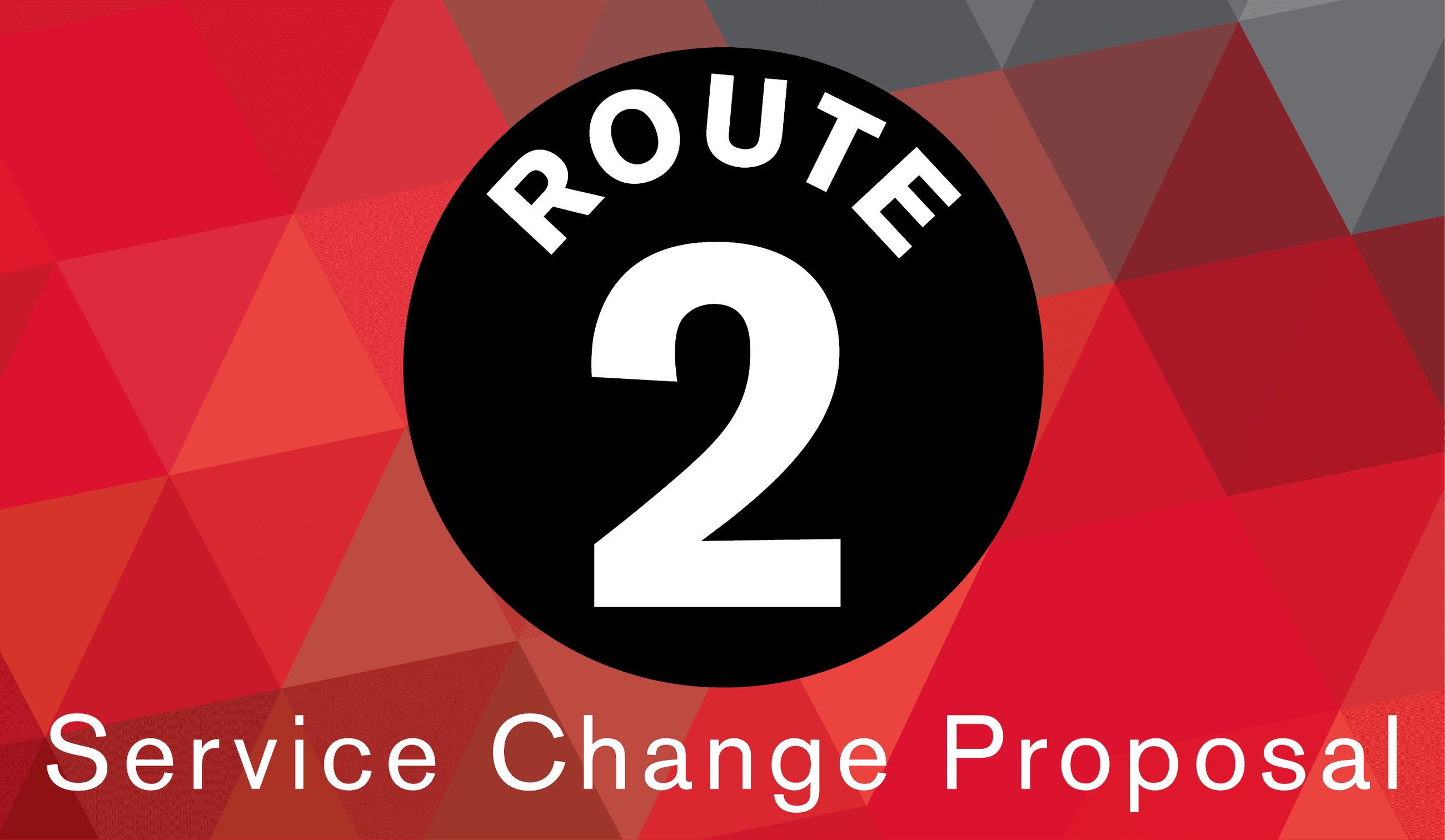 Route 2 service change proposal